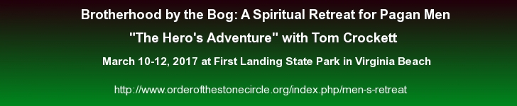 The Hero's Adventure, Pagan Men's Retreat, March 10-12, 2017